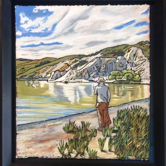 Contemplation, Blue Lake, St Bathans, by Melanie Eade