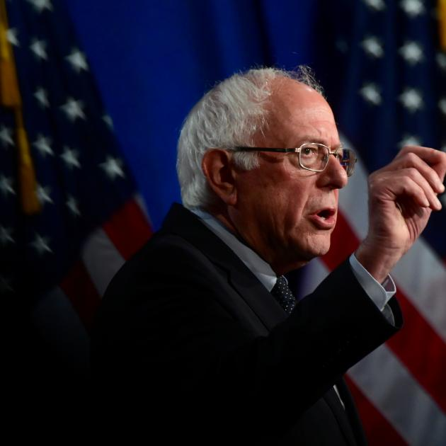 Democratic presidential candidate Senator Bernie Sanders. Photo: Reuters