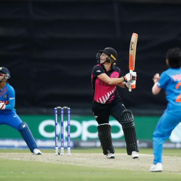 Sophie Devine was unable to continue her recent hot form against India. Photo: Getty