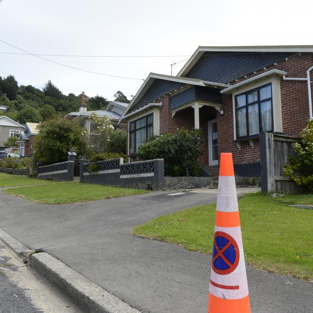 Three Motu St properties stand empty after property owners were ordered to evacuate in December...