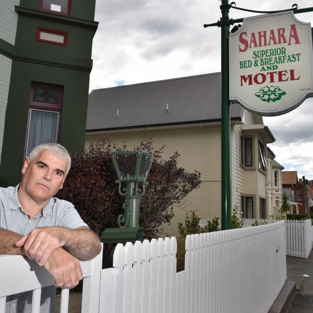 Sahara Motel manager Paul Ryder has had enough of rowdy student parties near his business. PHOTO:...