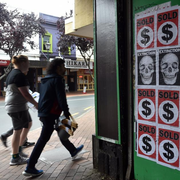 The dollar symbol is tainted by association with an image of extinction and an unsettling...