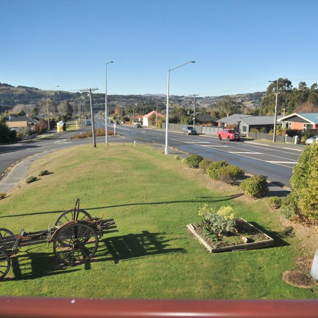 The balcony looks out over Fairfield. The owners say the old dray came with the property and...