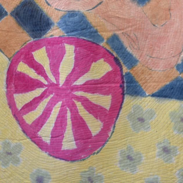 Detail of the cotton Duir Cycle quilts. PHOTO: PETER MCINTOSH
