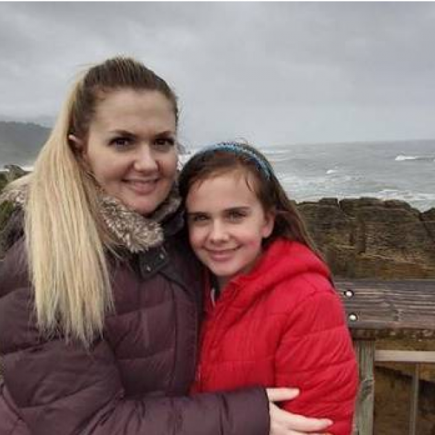 Hayley Beaumont, here with daughter Abbey, 11, was told she had nothing to worry about after...