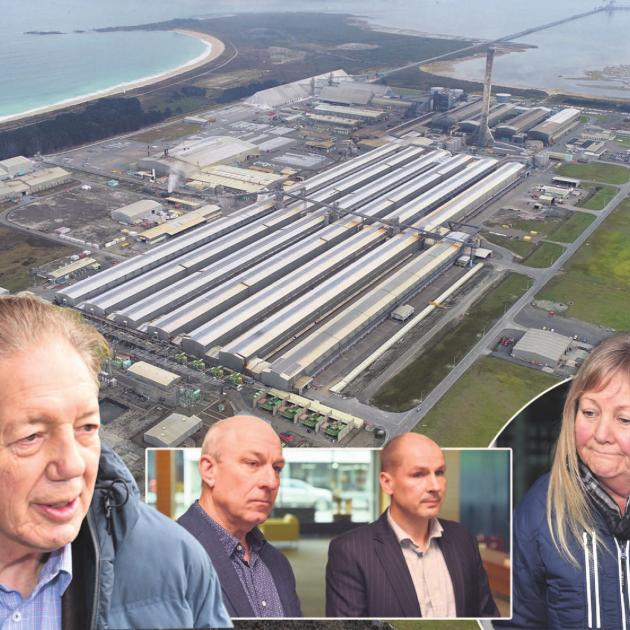 With the announcement of the closure of the Tiwai Point aluminium smelter [aerial view],...
