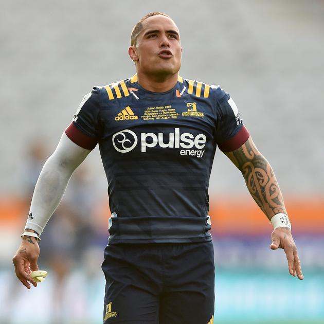 Co-captain Aaron Smith celebrated his 150th game for the Highlanders. Photo: Getty Images