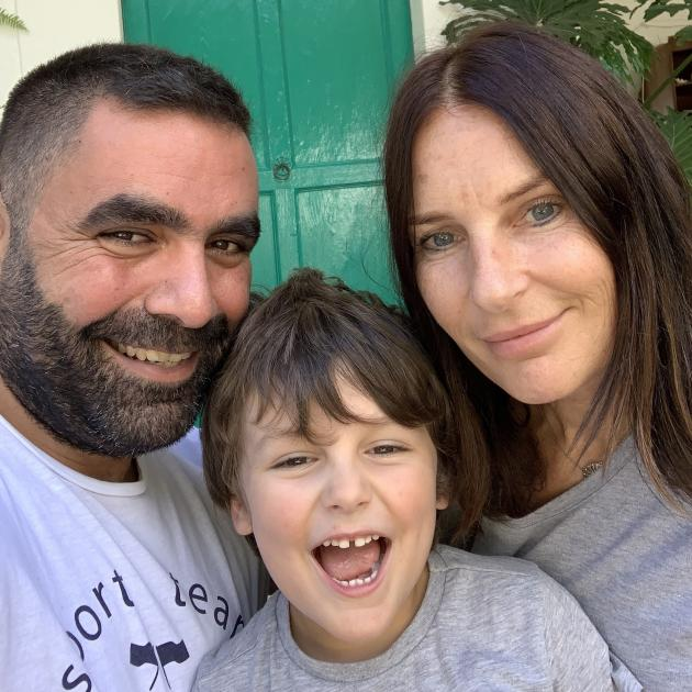 Maroun Sfeir, Enzo Butler-Sfeir (4) and Lorna Butler have been staying at an isolation facility...