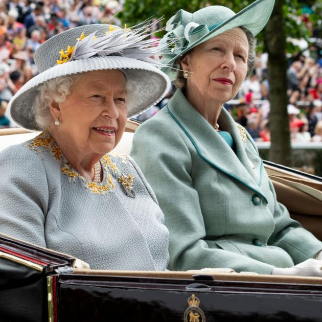 Queen Elizabeth II and Princess Anne, Princess Royal on day three, Ladies Day, of Royal Ascot at Ascot Racecourse last year. Photo: Getty Images