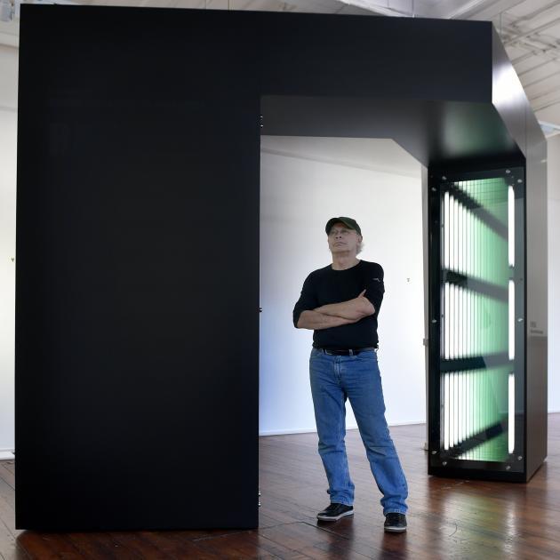 Artist Robert Jahnke came to Dunedin to install Te tomokanga o te ua (Portal of rain). PHOTO:...