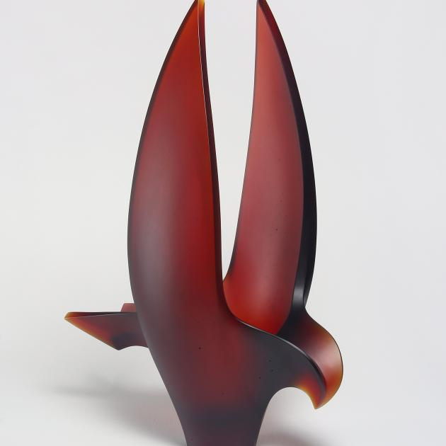 Dunedin glass artist Mike Crawford's 'Hokioi'
