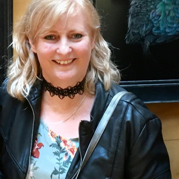 Karen Rankin-Neal at the opening of her exhibition ''Jewels of Zealandia'' last week. PHOTO:...