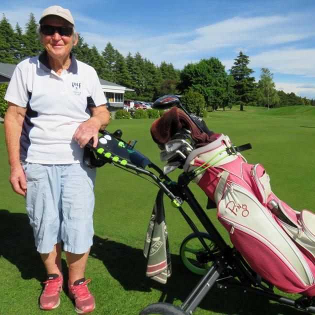 Helen Argyle at the Ashburton Golf Club. Photo: Ashburton Courier