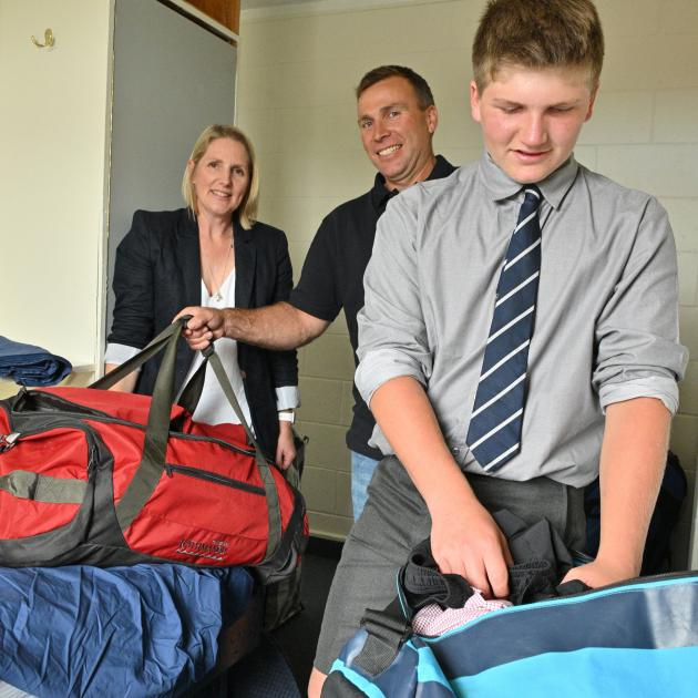 Charlie Ottrey unpacks his gear and settles into life at the Otago Boys' High School boarding...