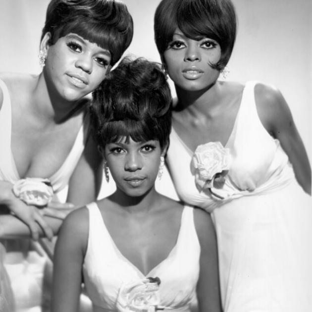 Mary Wilson (centre) with Diana Ross (right) and Florence Ballard in The Supremes. Photo: Michael...