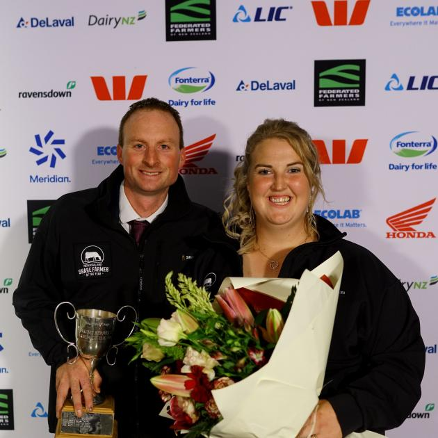 Southland-Otago Dairy Industry Awards winners Scott and Ann Henderson. PHOTO: SUPPLIED