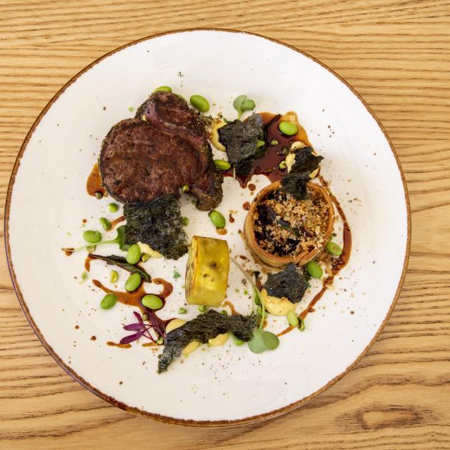 Knudsen's beef dish.