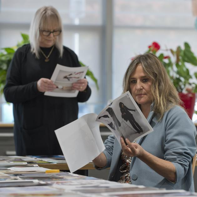 Fashion designers Tanya Carlson (front right) and Donna Tulloch assess iD International Emerging...