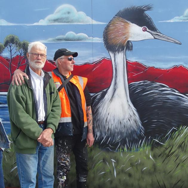 Wanaka Wastebusters retail assistant Anna Ferens, grebes project founder John Darby and Dunedin...