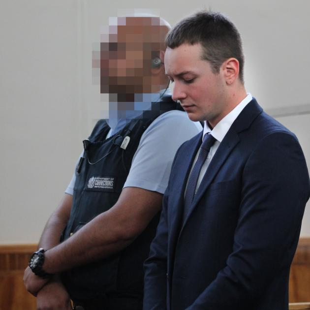 Jack Harrington appears on the first day of his jury trial in the Invercargill District Court,...