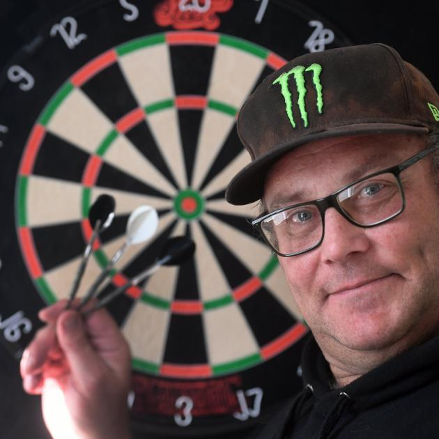 Dale de Groot-Green has now been banned from Otago and Mosgiel darts clubs. PHOTO: STEPHEN JAQUIERY