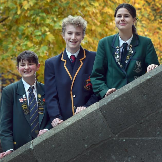 Otago secondary schools debating team members (from left) Robert Donohoe (17, Bayfield High...