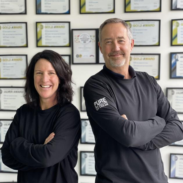 Pure NZ Ice Cream owners Anna Howard and Brian Thomas have had regulatory sign-off to export ice...