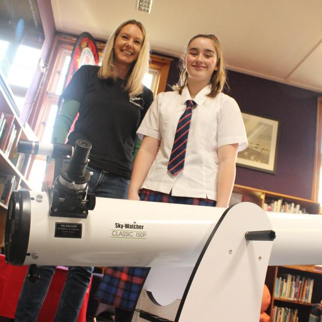 New Zealand Space Agency aerospace technical engineer Katie Breach presents Southland Girls' High...