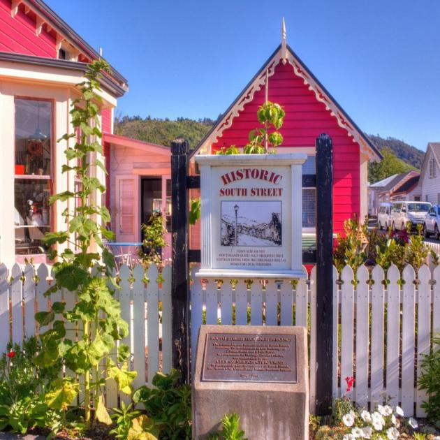 Historic South St  in Nelson City. PHOTO: BARRY PECK