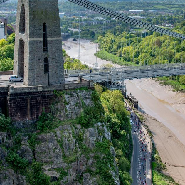 10K runners (bottom right) during the Bristol 10K. Photo: Getty stock image