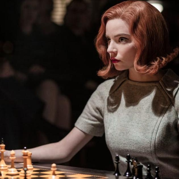 Anya Taylor-Joy plays Beth Harmon in the series 'The Queen's Gambit'. Photo: Supplied