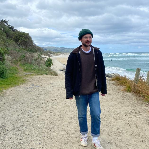 Dunedin man Blake Acklin walks regularly at St Clair Beach as part of his preparations to walk...