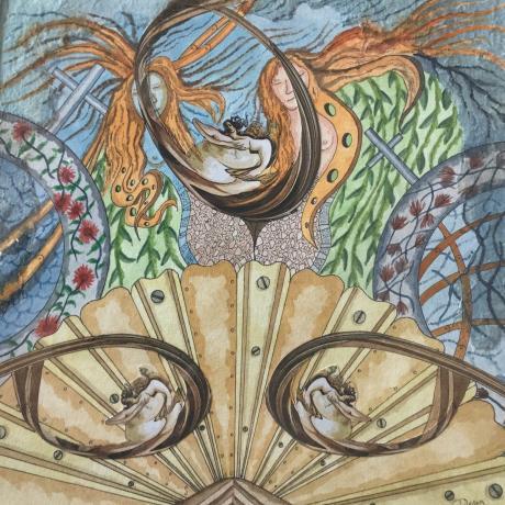 Metamorphosis (detail), by Doug Hart .