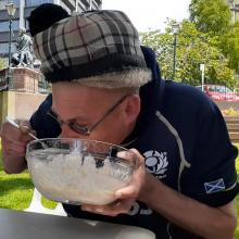2019 Speed Porridge Eating with Robbie