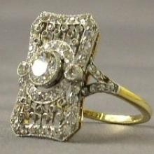 This filligree diamond ring is among 15 items from the wreck of the Titanic to go on display. Photo from Reuters