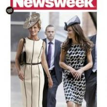 In this magazine cover image released by Newsweek, a computer-generated image of Princess Diana is shown with Kate Middleton on the cover of the July 4, 2011 issue of Newsweek magazine. (AP Photo/Newsweek)