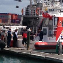 Two people are dead after a boat capsized near Waiheke Island. Photo / Richard Robinson