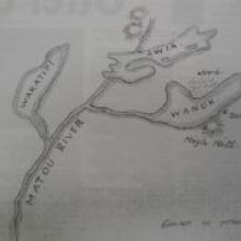 This 1844 map specifies the location of beaver in the Upper Clutha.