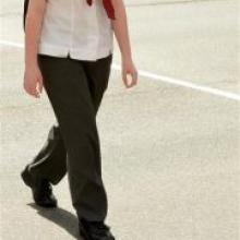 Arryn (15) was allowed by Kavanagh College to change uniform. Photo by Stephen Jaquiery.