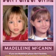 Madeleine, aged 3, and what she may look like as a 6-year-old.
