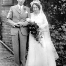 The couple were married on  July 28, 1934, in the Holy Trinity Church, Wealdstone, Middlesex.