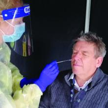 Southern DHB's Chief Medical Officer Dr Nigel Millar gets tested