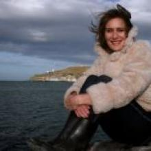 Author Louise Moulin found Aramoana to be the perfect place to write her book. Photo by Nigel Benson.