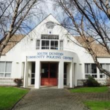The South Dunedin Police Station. Photo by ODT