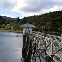 A view of the Ross Creek reservoir. Photo: ODT.