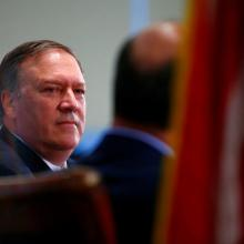 Central Intelligence Agency Director Mike Pompeo speaks at The Center for Strategic and International Studies in Washington. Photo: Reuters