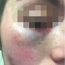 A 25-year-old woman says she filmed a police officer minutes before he attacked her. Photo: Supplied
