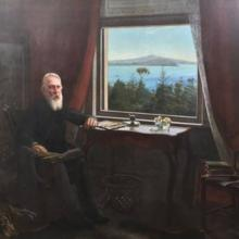 'Sir John Logan Campbell at Kilbryde, Parnell', painted around 1903 by Louis John Steele, who...