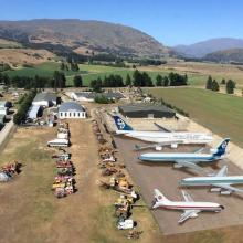 An artist's impression of former Air New Zealand, NAC and Teal airliners on display in Wanaka....