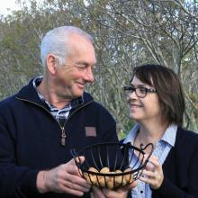 Stuart and Lynda Hamilton are enjoying their hobby as walnut growers. Photo: Hamish MacLean